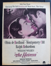 The Heiress (1949) - Olivia De Havilland | Vintage Trade Ad